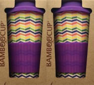 Set 2ks Eco Bamboo Cup - Zig-Zag, bambusový eco-friendly termohrnček