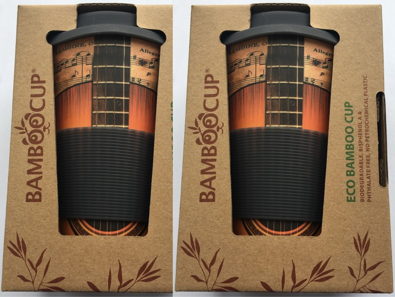 Set 2ks Eco Bamboo Cup - Guitar, bambusový eco-friendly termohrnček